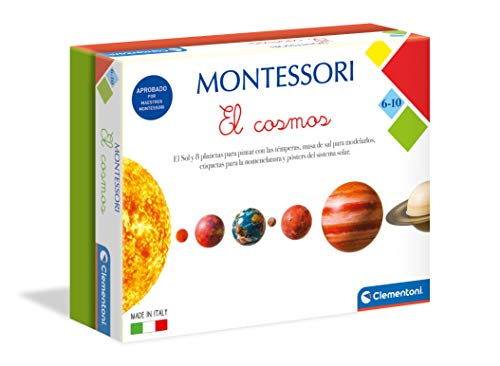 Clementoni-55397 - Montessori - El cosmos - juego educativo montessori a partir de 6 años