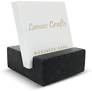 LAMAC CRAFTS Black Marble Card Holders for home office/office desk/office table