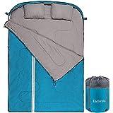 Eackrola Double Sleeping Bag (Lake Blue-Polyester, Use Above 46℉)