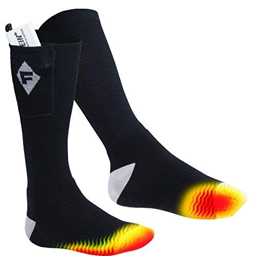 Flambeau F250 Men's Heated Socks Kit, Medium, Gray
