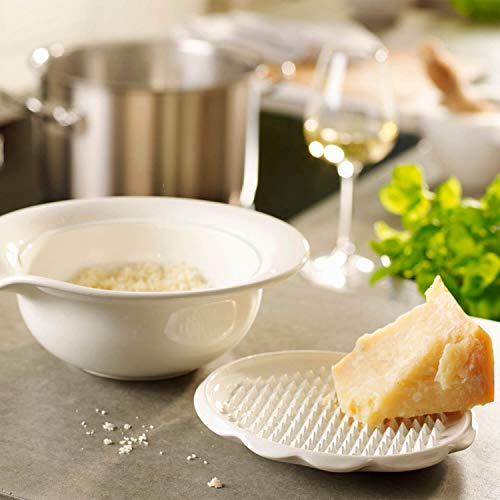 White Villeroy /& Boch Pasta Passion Parmesan serving dish with lid Premium Porcelain