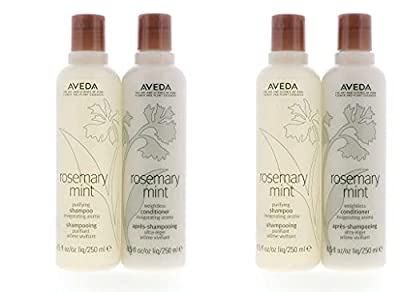 Aveda Rosemary Mint Purifying Shampoo 8.5oz & Weightless Conditioner 8.5oz Set Pack of 2