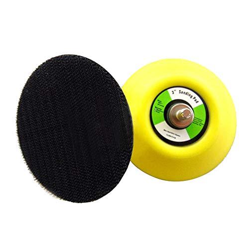 2 pcs Platos de lijado con velcro, 75 mm, rosca de 6 mm, disco de apoyo para lijadora excéntrica, amoladora angular, pulidora