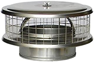 "8"" Stainless Steel WeatherShield Chimney Cap WSA for Solid Pack Chimney Pipe"