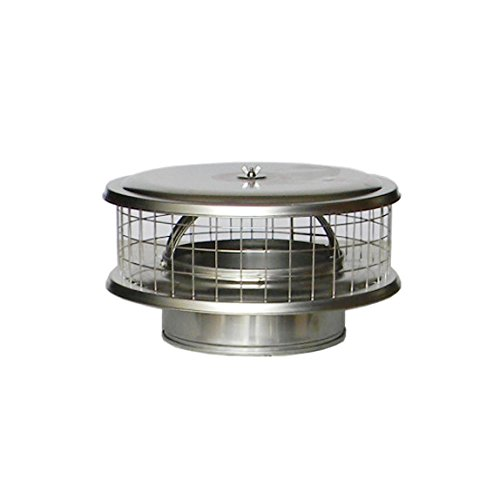 """3"""" Stainless Steel WeatherShield Chimney Cap WSA for Solid Pack Chimney Pipe"""