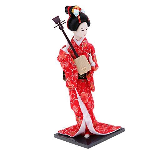 chiwanji Japanische Geisha Puppen Kimono Damen Puppen Ornamente Wohnkultur - # 4