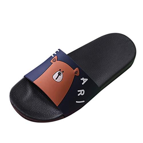 KERULA Hausschuhe Herren Sommer Cartoon Breathable Antirutsch Fußbetteinlagen Langlebig Strand Gästehausschuhe Hüttenschuhe Schuhe mit Rutschfester Gummisohle für Drinnen und Outdoor