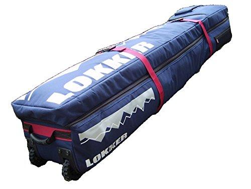 LOKKER Wheelie Team Snowboard-Reisetasche, voll gepolstertes Trage-geteiltes Deck für bis zu 2 Snowboards und alle Ihre Ski-Ausrüstung, mit Rädern.