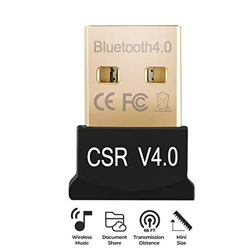 USB Bluetooth 4.0 Adapter Dongle for PC Laptop Computer Desktop Stereo Music Skype Call Keyboard Mouse Support All Windows XP Vista 7 8 Win 10