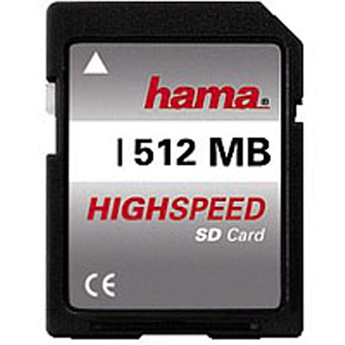 Hama SecureDigital Highspeed 512MB Speicherkarte (original Handelsverpackung)