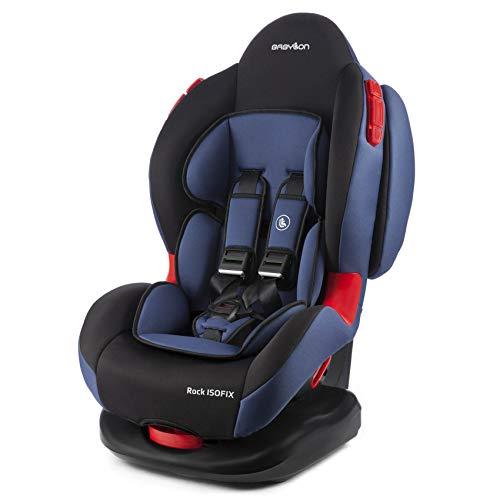 BABYLON Babysitz Auto Rock Isofix Autokindersitz Gruppe 1/2, Kindersitz 9-25 kg (9 Monaten bis 7 Jahre). Kindersitz mit Top Tether 5 Punkt Sicherheitsgurt. Autositz ECE R44/0 Schwarz/Blau