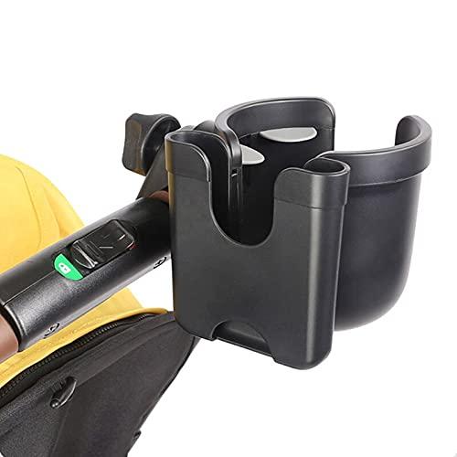 Portavasos para Cochecito, portavasos Universal 2 en 1 para Carro con Organizador de teléfono para Cochecito, Estante de Almacenamiento con rotación de 360 Grados para Cochecito / Silla de Ruedas