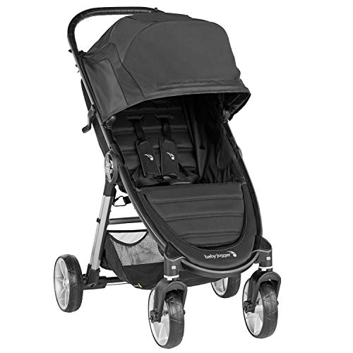Baby Jogger City Mini 2 Pushchair | Lightweight, Foldable & Compact 4-Wheel Stroller | Jet (Black)