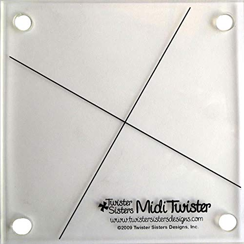 Midi Twister Pinwheel Quilt Template uses 6 1/2