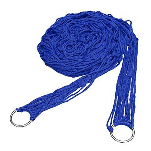 Timetided Cama de Cuerda de Nailon Hamaca para Acampar Mosquitera para Exteriores Red de Insectos Paracaídas portátil Hamaca de Nailon para Dormir Viajes Senderismo - Azul
