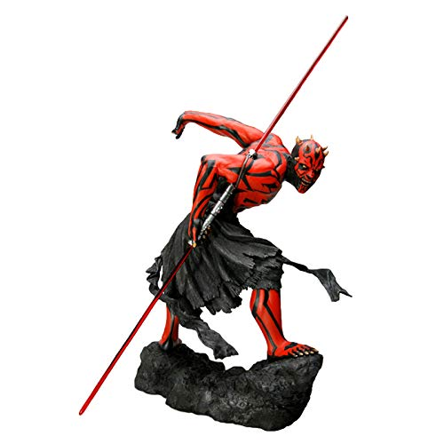 YXB Charakter Statue Darth Maul Puppe Statisches Spielzeug Darth Maul Handgefertigtes Modell Mehrfarbige PVC-Figur Geeignet Für Kindergeburtstagsgeschenke H30cm