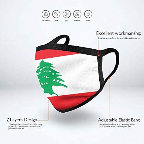 Mundschutz Gesichtssch Flagge des Libanon Erwachsene Kinder Wiederverwendbare Grafiken Mode Waschbare Nase - Abdeckung für Outdoor-Aktivitäten