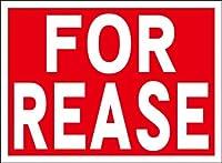 シンプル看板「FOR REASE」屋外可(約H22.7cmxW30.5cm)
