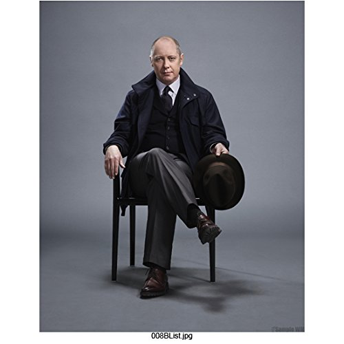 The Blacklist James Spader as Raymond Reddington Seated and Holding Hat 8 x 10 inch Photo