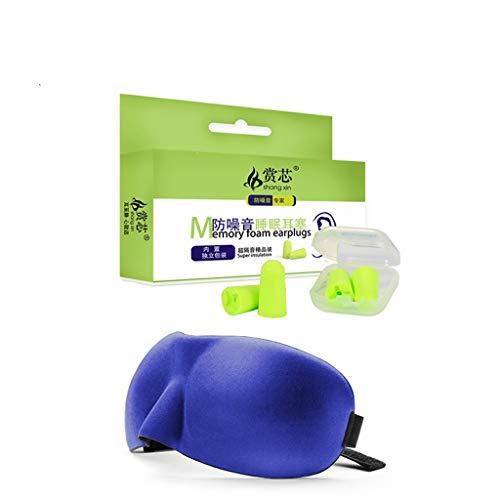 Boules Quies WDX- Earplug Sommeil Anti-Bruit Earplugs mâle et Femelle Voyage Siesta Dortoir Soundproof Sommeil Ombrage Respirant Confortable (Size : D)