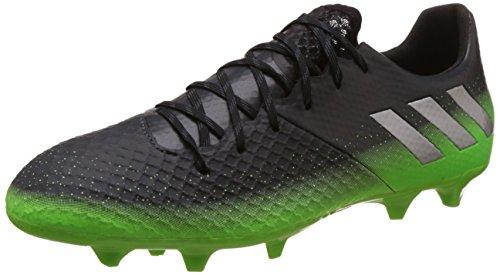 adidas Herren Messi 16.2 FG Fußballschuhe, Grau (Dark Grey/Silver Met./Solar Green), 42 EU