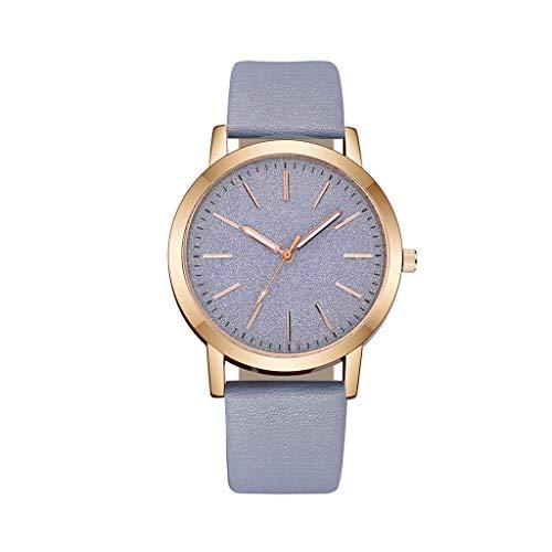 Hasayo Cuero de Cuarzo Reloj de Las Mujeres del Reloj de señoras de Moda Relojes de Las Mujeres del Reloj de Pulsera de Lujo Femenino Ocasional (Color : B)