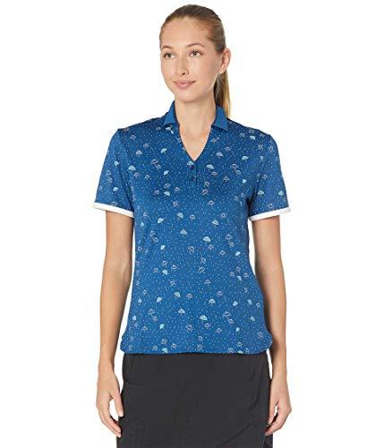 Callaway Damen Poloshirt, kurzärmelig, Konversations-Regenschirm, Damen, Polo, Short Sleeve Conversational Umbrella Polo, Blueberry Pancake, Medium