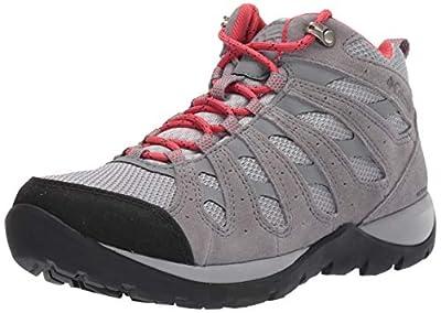 Columbia Women's Redmond V2 Mid Waterproof Hiking Boot Shoe, Steam/Daredevil, 10