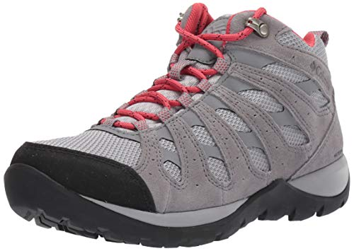 Columbia Women's Redmond V2 Mid Waterproof Hiking Boot Shoe, Steam/Daredevil, 9