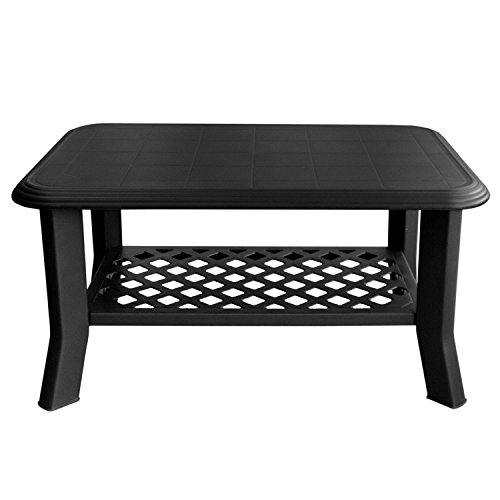 Ipae–Tavolino basso, modello Niso, colore antracite, misure. 90x 60x 46cm