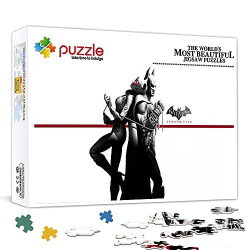 1000 piezas Puzle de madera Arkham City Batman vs Catwoman Gran familia Entretenimiento Puzzles educativos Clásico IQ Cerebro Desarrollo de juego mágico 75x50cm