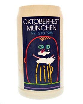 Beste Auswahl Oktoberfestkrug 1988, Offizieller Jahreskrug, Plakatmotiv, Wiesn-Krug, Wirte-Krug, Sammelkrug, Bierkrüge, Brauerei-Krug