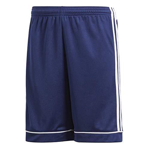 adidas Boys' Squadra 17 AEROREADY Regular Fit Quarter Length Soccer Shorts, Dark Blue/White, Large
