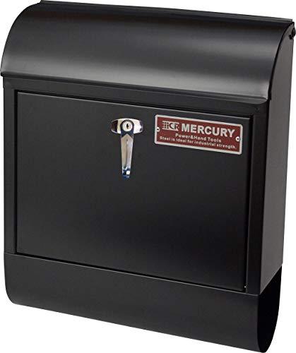 マーキュリー(Mercury) ポスト マットブラック フリーサイズ マーキュリー ハンドルロック メールボックス マットブラック MEHAMAMB