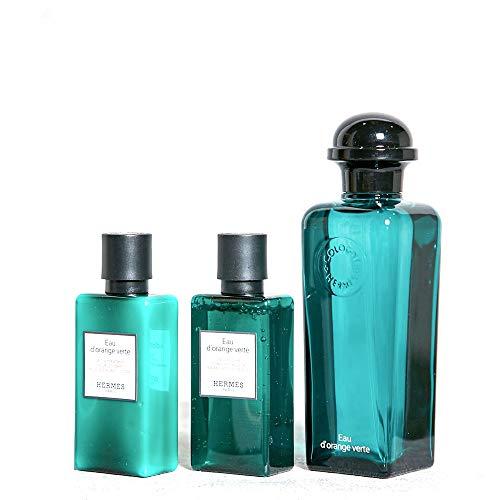 Hermès Eau d'Orange Verte Geschenkset (EdT Spray 100ml, Bodylotion 40ml + Duschgel 40ml)