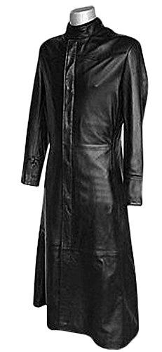 Men's Black Matrix Movie Neo Trench Coat Jacket - Men's Black Matrix Movie Neo Trench Coat Jacket (XL, Noir)