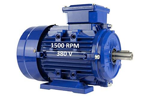 Elektromotor, dreiphasig, 4 kW, 5,5 PS, 220/380 V, 1500 U/min, B3, Größe 112 m, Achse 28 mm