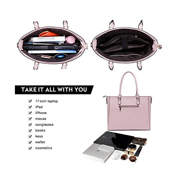 Laptop Bag for Women,17.3 Innch Large Briefcase for Business Women, Laptop Computer Bag with Padded Compartment for…