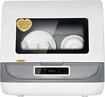 Portable Countertop Dishwasher, 5 in 1 Multifunctional Dishwasher with Automatic Air-drying Function, 3 Washing Program for Home Kitchen Washing Dish Fruit Baby Care