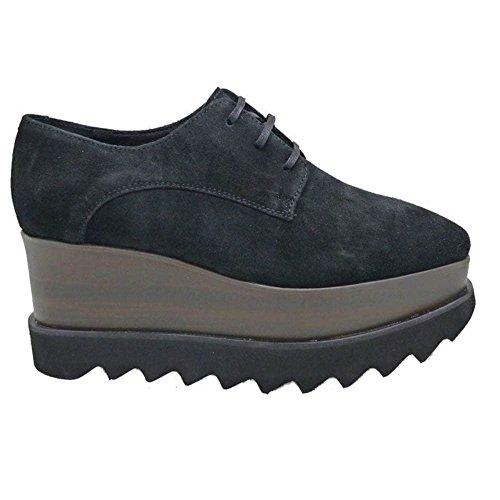 Zapatos Mujer Blucher Cordon Oxford Alpe London Negro 39