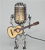 Lámpara De Mesa Con Atenuador Táctil De Robot Con Micrófono...