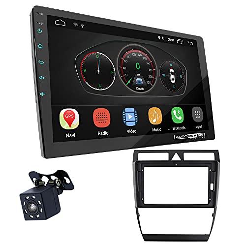 UGAR EX10 9' Android 10.0 DSP Radio de Coche mit 11-458S Panel Dash Instalación Fascia Kit Compatible para Audi A6 (4B) 1997-2005, Allroad 2000-2006