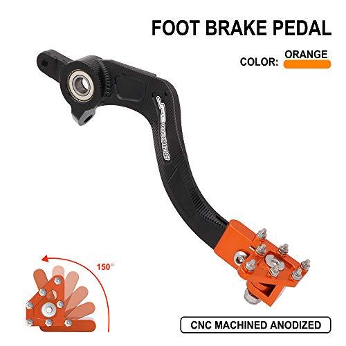 Bremse Fußpedal hinten – Motorrad CNC Aluminium Hebel für K.T.M Husqvarna SX SX-F XC XC-F XC-W XCF-W EXC EXC-F EXC-R SMR SXS SXS-F XCR-W 125 144 150 200 250 300 350 400 450 500 505 530 Orange