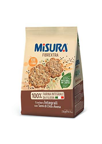 Misura Crackers Integrali Fibrextra | con Avena e Semi di Chia| Confezione da 230 grammi