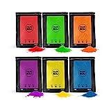 POLVO HOLI Pack 600g 6 Bolsas de 100 Gramos - 6 Colores