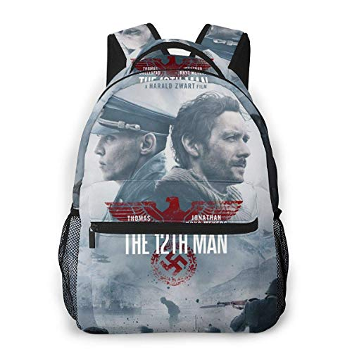 Lawenp Casual Backpack The 12th Man Casual Backpack,Backpack Gift for Men and Women,Multifunctional Backpack,Laptop Backpack