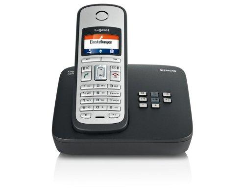 Gigaset A600A Schnurlostelefon (3,8 cm (1,5 Zoll) TFT-Display, Anrufbeantworter, Freisprecheinrichtung) schwarz