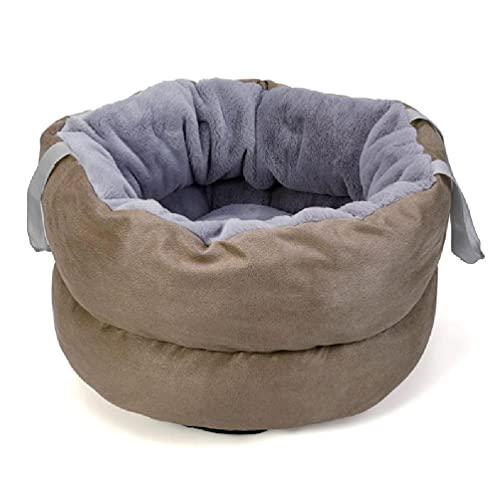 liaobeiotry Caseta portátil suave para perros y gatos, multifunción, cojín para dormir, accesorio para camas para perros de talla pequeña