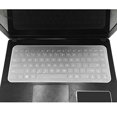 Funda para Teclado Piel Impermeable Película de Silicona a Prueba de Polvo Protector Universal para Teclado de Tableta para portátil de 13-17 Pulgadas - Transparente - para 15-17 Pulgadas