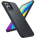 TORRAS iPhone 12 用ケース iPhone 12 Pro 用ケース 半透明 米軍MIL規格取得 高耐衝撃 マット感 ストラップホール付き SGS認証 黄ばみなし レンズ保護 2020 6.1インチ アイフォン12 /12 Pro用カバー(ブラック)